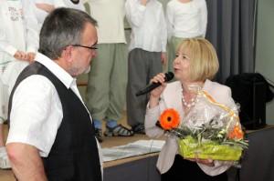 Frau Beck bei ihrer Danksagung