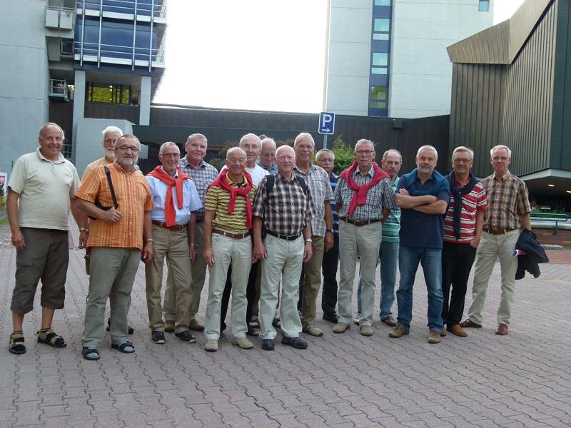 Die Jedermänner nach dem Besuch beim SWR