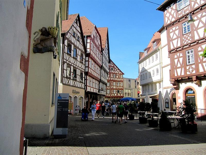 Di-Fußgängerzone in Mosbach