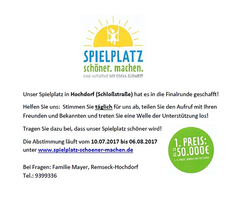 Spielplatz_schoener_machen - Hochdorf - Gemeindeblatt - Facebook - Homepage